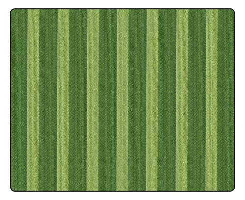 Flagship Carpets FA1007-58FS Cozy Basketweave Stripes/Green, - Green Basketweave Rug