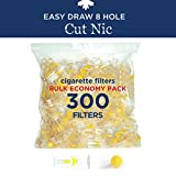 Cut Nic 8 Hole Cigarette Filters - Bulk Economy Pack (300 Filters Total)