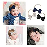 Cute Baby Hair Bows | Baby Girl Headbands Set with Soft Nylon for Baby Girls Head