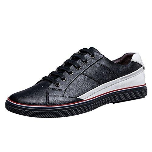 's Noir Conduite Appartements Marche Chaussures Cuir Men leader Sneaker Voiture Walk De Décontracté AwaqR4q