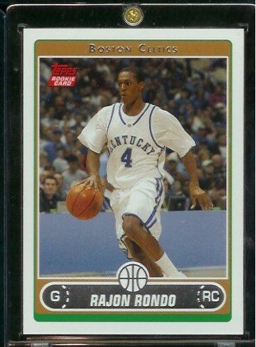 (2006 07 Topps Rajon Rondo Boston Celtics Basketball Rookie Card #251 - Mint Condition - Shipped In Protective ScrewDown Display Case!)