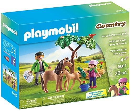 Playmobil Pony Farm - PLAYMOBIL Vet with Pony and Foal Playset