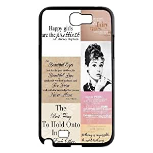 Audrey Hepburn Quotes The Unique Printing Art Custom Phone Samsung Galxy S4 I9500/I9502 ,diy cover case ygtg-781408