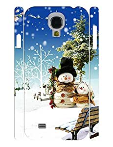 Trendy Abstract Cool Hipster Snowmen Photo Specialized Hard Plastic Phone Accessories Shell for Samsung Galaxy S4 I9500 Case wangjiang maoyi