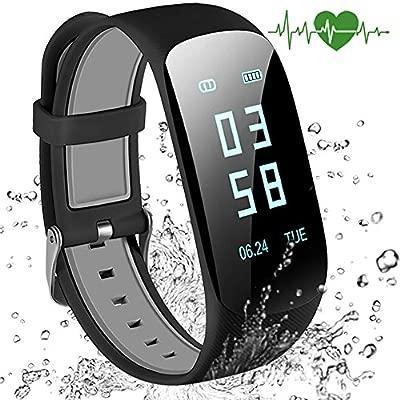 Abandship Fitness Tracker, Fitness Tracker Reloj con Slim Pantalla táctil y Pulseras, Pulsera de Actividad Tracker como podómetro Monitor de sueño ...