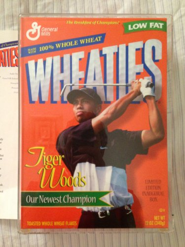 WHEATIES BOX TIGER WOODS LIMITED EDITION INAUGURAL (Tiger Woods Wheaties Box)