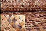 Thaisan7, Multi-Color LAUHALA Cabana Weave Matting-Wall/Ceiling Covering,Home Improvement,Garden Shop Decore-4'x8' Rolls (Quantity: Set of 2 Rolls)