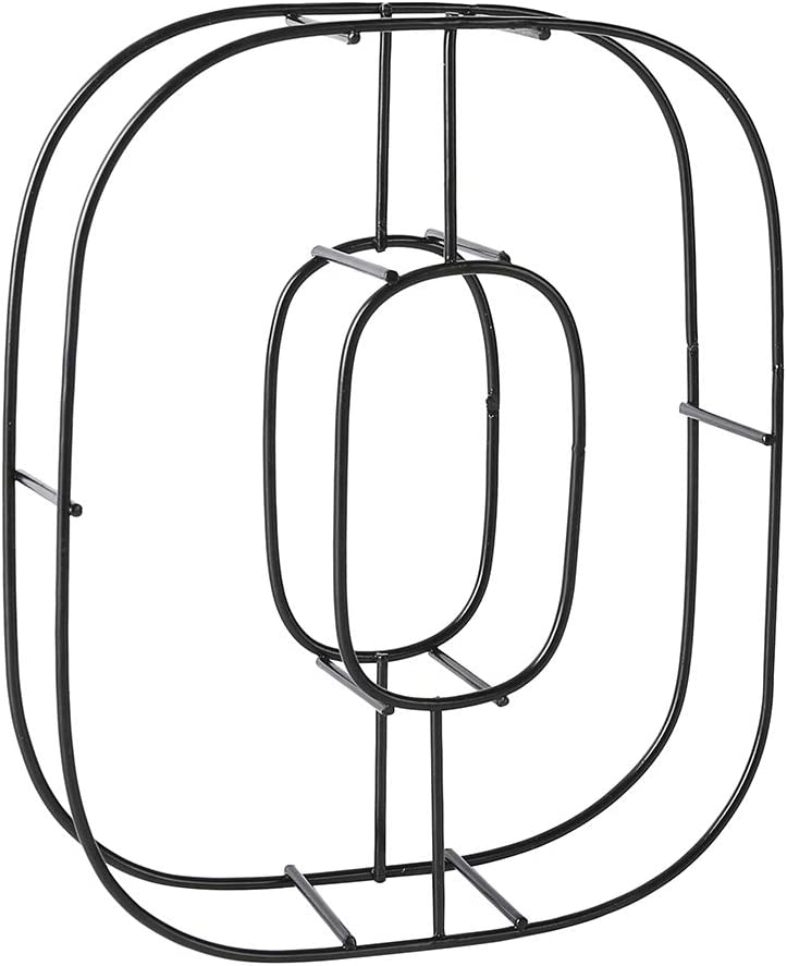 """Scwhousi Metal Letters O Decorative Alphabet Freestanding/Hanging Room Wall Decor,6""""H"""