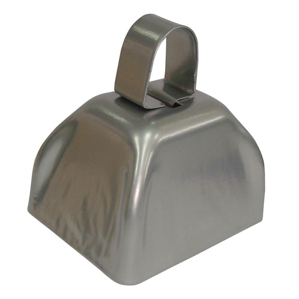 (One Colour, Silver) - Silver Metal Cowbell - 12 Pack   B00AFZZRKI