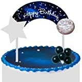 Cake / Food / Cupcake / Desert Decoration Banner Decorating Topper Kit (Galaxy Space Planets)