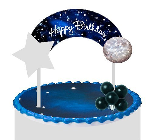 Cake/Food/Cupcake/Desert Decoration Banner Decorating Topper Kit (Galaxy Space Planets) for $<!--$9.99-->