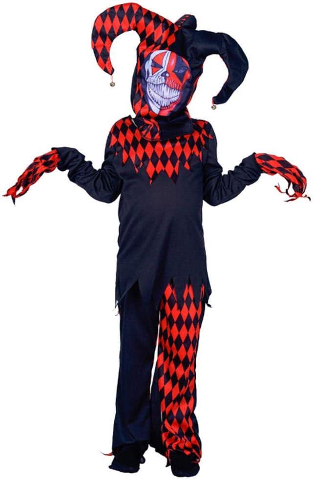 RunJuWuYe Disfraz de bufón Malvado Disfraz de Payaso asustador ...