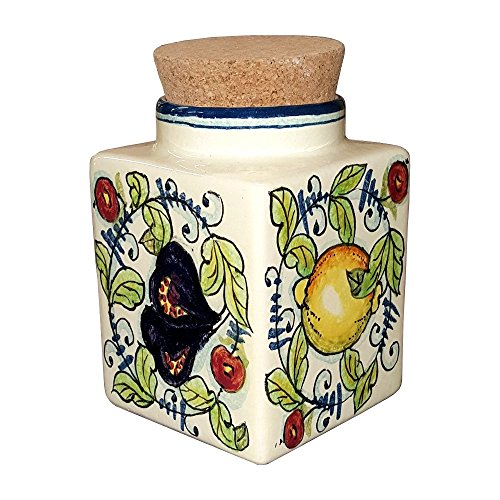CERAMICHE D'ARTE PARRINI- Italian Ceramic Cookies Jar Hand Painted Made in ITALY Tuscan Art Pottery (Cat Crock Pot compare prices)