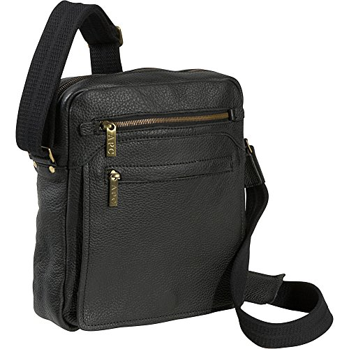 Magnetic Front Flap (AmeriLeather Front Flap Messenger Bag (Black))