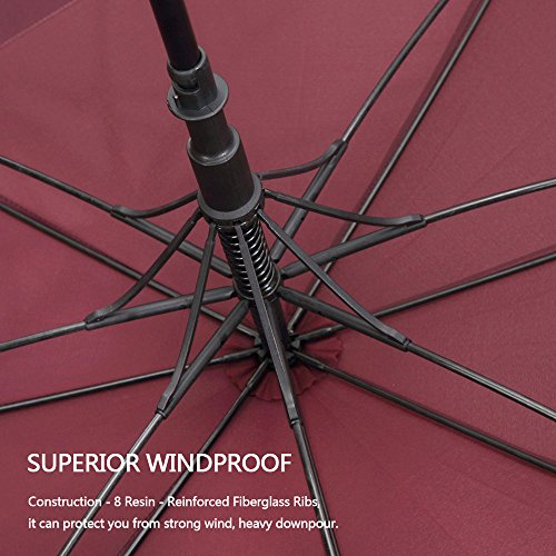 G4Free 546268 Inch Automatic Open Golf Umbrella Extra Large Oversize Double Canopy Vented Windproof