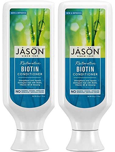 Jason Pure Natural Conditioner, Restorative Biotin, 16 Ounce (Pack of 2) by Jason Natural ()