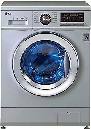 lg washing machine. lg fh296hdl24 fully-automatic front-loading washing machine (7 kg, luxury silver lg
