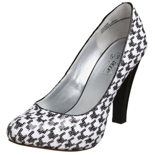 Heel High Houndstooth Pump (oh DEER! Women's Waldorf Pump,Houndstooth,8 M US)