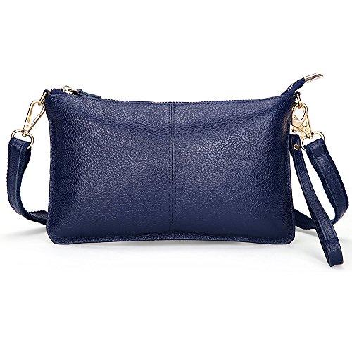 PU leather Crossbody Bag for Women Fashion Shoulder Bag Small Wristlet Clutch Purse Phone Wallets Handbag Dark Blue