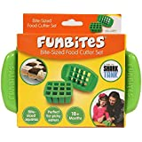 FunBites Food Cutter for Kids, Green Squares