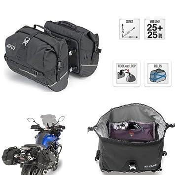 Givi ut808 montaje universal con correas Negro para Moto Par de maletas laterales: Amazon.es: Coche y moto