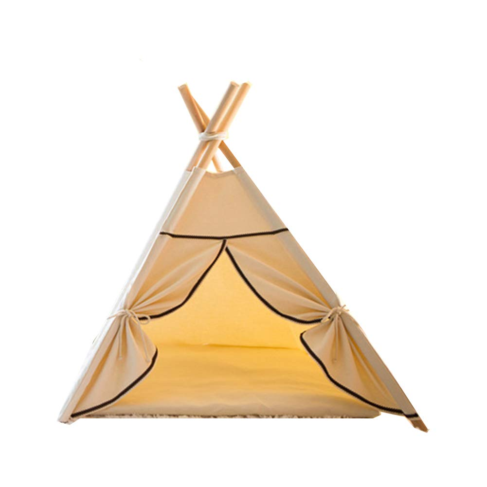 Medium YZONG Pet Teepee Cat Dog Tent Portable Pet Tent,With Cushion,Pet House,Kennel,Dog(Puppy) Beds,Cat Teepees,M