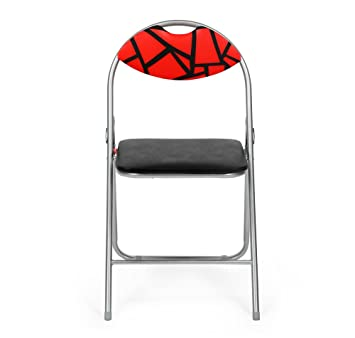 @Home by Nilkamal Jax Foldable Chair (Red and Black)