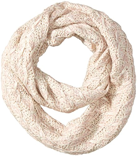 Jessica Simpson Scarf - Jessica Simpson Women's Lurex and Marled Yarn Textured Knit Enternity Scarf, Ivory/Dusty Pink, One Size