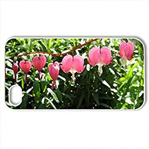 Bleeding heart - Case Cover for iPhone 4 and 4s (Flowers Series, Watercolor style, White) by icecream design