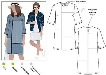 Amazon.com: Style Arc Sewing Pattern - Jema Panel Shift Dress (Sizes ...