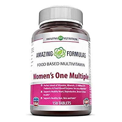 Amazing Formulas WOMENS' ONE MULTIPLE 150 Tablets (3 months' supply) * Just one tablet of Amazing Nutrition Women's one multiple taken daily may serve as a great w