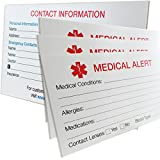 MyIDDr - 100 MyIDCards Medical Alert ID Card Thick 400lb Card Stock Made in USA (100)