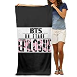 Cupass Adult BTS Bangtan Boys Beach Towel One Size 80cm130cm White