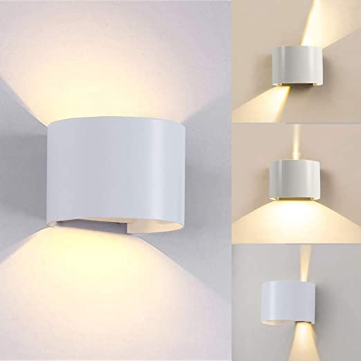 Lianqi 7W LED Wall Light IP54 Waterproof Wall Sconce Fixture Up And Down  Adjustable Design For