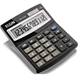 Calculadora com 12 Dígitos, Duplo Zero, Elgin 42MV41240000, Preta