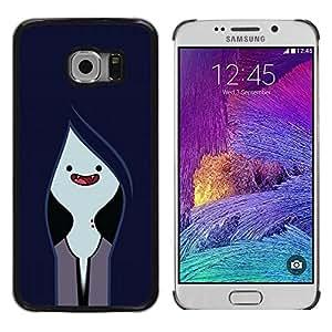 Be Good Phone Accessory // Dura Cáscara cubierta Protectora Caso Carcasa Funda de Protección para Samsung Galaxy S6 EDGE SM-G925 // Vampire Navy Blue Face