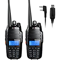 TYT TH-UV8000D 2PCS Ultra-high Output Power 10W Amateur Handheld Transceiver, Dual Band Dual Display Dual Standby Two Way Radio+Program Cable-Lightwish