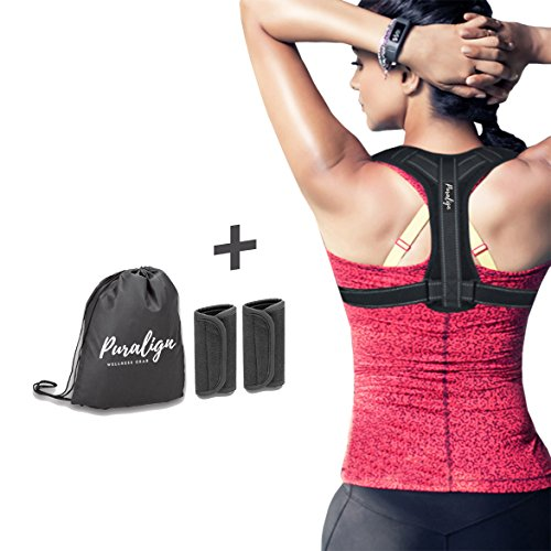 Posture Corrector for Women & Men by Puralign | Reflective Comfortable Ergonomic & Discreet Under Clothes | Adjustable Back Posture Brace | Relieve & Prevent Upper Back and Neck Pain by Puralign