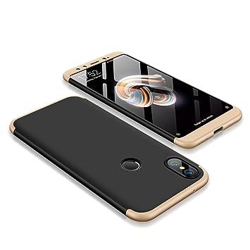 SOCINY Funda Xiaomi Mi 6X/Xiaomi Mi A2,Grados de Cobertura de Cuerpo Completo Protección Combinación de PC Anti-Scratch Ultrafina Funda antichoque con ...
