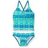 Kanu Surf Big Girls' Kayla Tankini Swimsuit, Blue/Green, 14