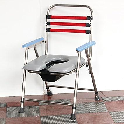 Acero Mesita De Noche Silla Silla plegable silla de mujer ...
