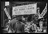 Vintography Reproduced Photo of Window Shoppers Watching Toy Display in Downtown Providence, Rhode Island 1940 Delano C Jack 49a