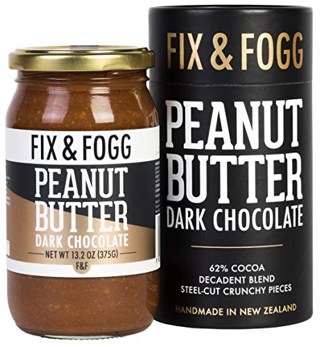 Gourmet Dark Chocolate Peanut Butter. Handmade in New Zealand from Fix & Fogg with 62% Dark Chocolate. Keto Friendly. Non-GMO. Superior Tasting Chocolate Spread. Low in Sugar (13.2 oz)