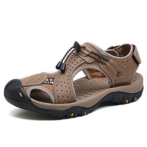 Summer Uomo Fashion Sandali Comfort Scarpe Wearable da Baotou Khaki Shoes Beach Wild Opxfaqx