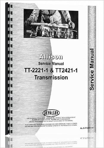 allison tt2221 1 transmission service manual allison 6301147611437