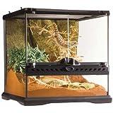 Exo Terra Glass Terrarium Kit, for Reptiles and Amphibians, Mini Wide, 12 x 12 x 12 inches, PT2600A1