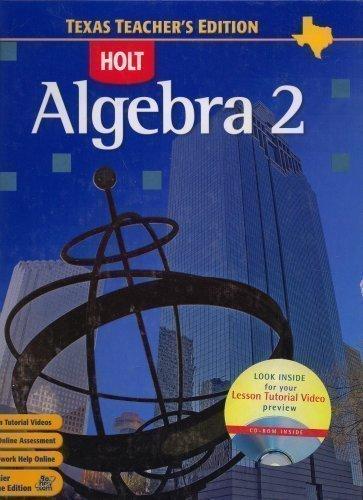 Algebra 2 Texas Teachers Edition