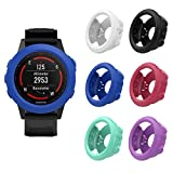 MoKo Case for Garmin Fenix 5X/5X Plus Watch, [6 PACK] Silicone Full Body Protective Cover with Dust Plug Shock-proof Case Protector Accessories for Garmin Fenix 5X Smart Watch, Multi Colors (6PCS)