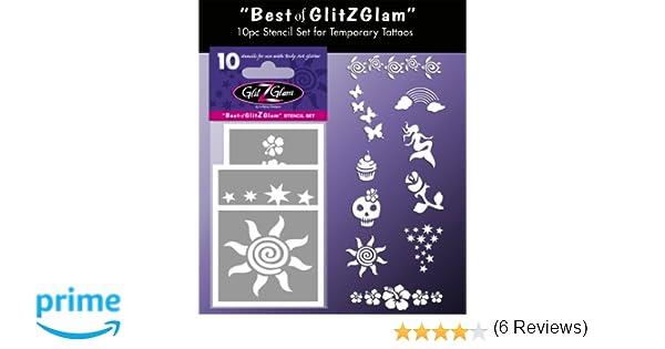 GlitZGlam Kit de Plantillas para Tatuajes temporales: Lo Mejor ...