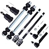 SCITOO 8pcs Suspension Kit 2 Lower Ball Joint 2 Outer 2 Inner Tie Rod End 2 Front Stabilizer Bar Link fit 82 83 84 85 86 87 88 Ford Thunderbird Mercury Cougar K8259
